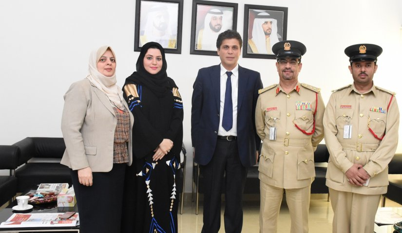 Department of Dubai Police Security Awareness Management Visits  Al Falah University