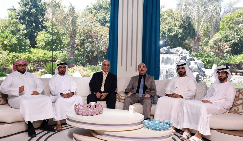 A delegation from Al Falah University visit the Sharjah Media Corporation