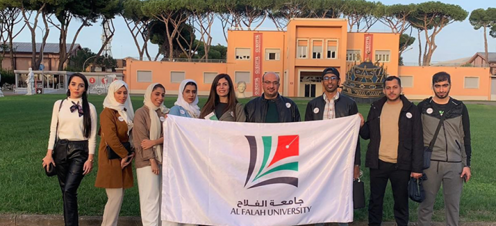 Al Falah University Students Attends the Rome Film Fest